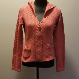 Sleeping on Snow Zipped Hooded Cardigan size S